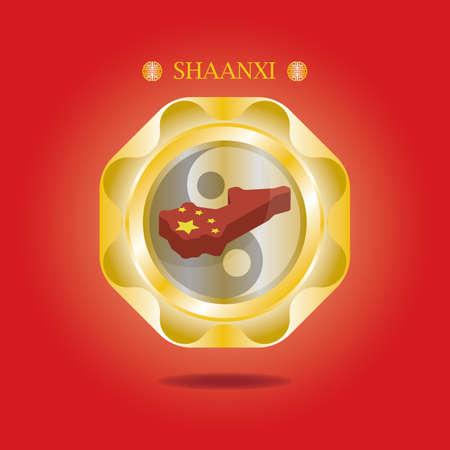 mapa de shaanxi