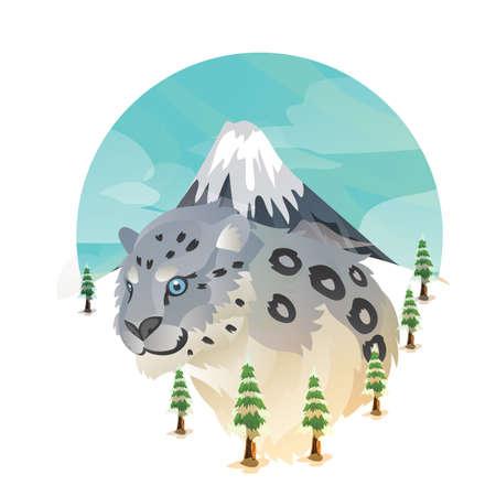 snow leopard 스톡 콘텐츠 - 106668481