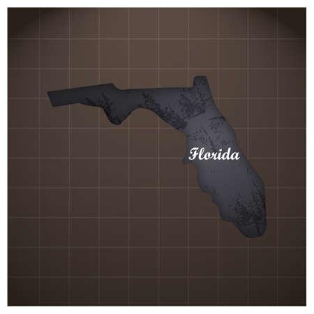 florida state map Illustration