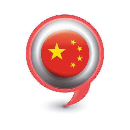 chat bubble with china flag