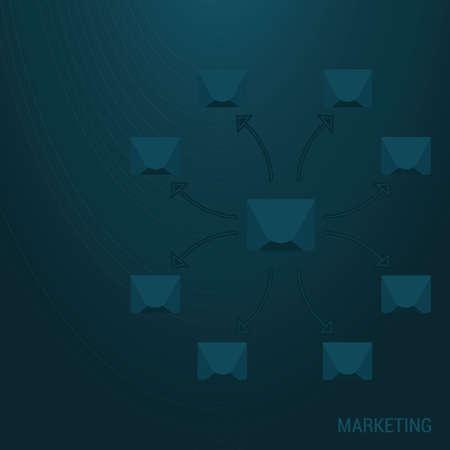 fondo de marketing Ilustración de vector