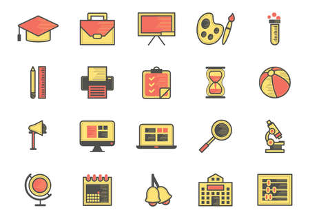 collection of education icons Stock Vector - 106668499