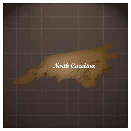 ノースカロライナ州地図  イラスト・ベクター素材