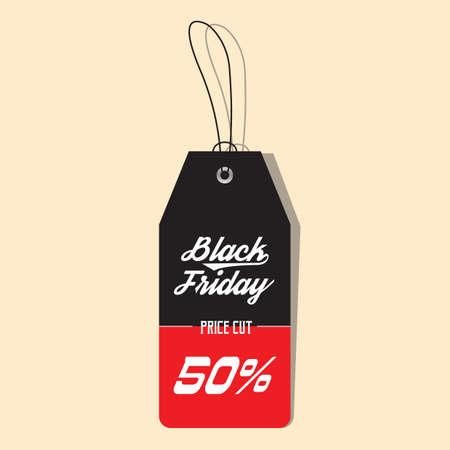 black friday sale tag Vectores