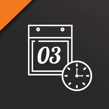 calendar and clock Stock fotó - 81535332