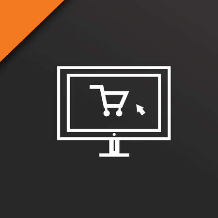 monitor with shopping cart