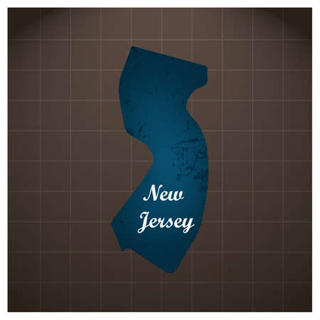 new jersey state map Stock fotó - 81484353