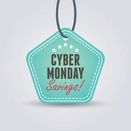 étiquette de vente cyber lundi