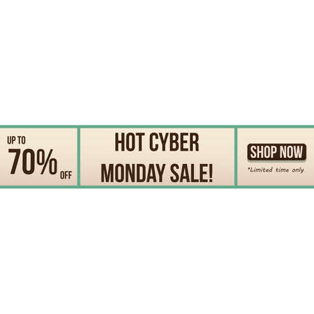 cyber monday sale Stock Vector - 106668558