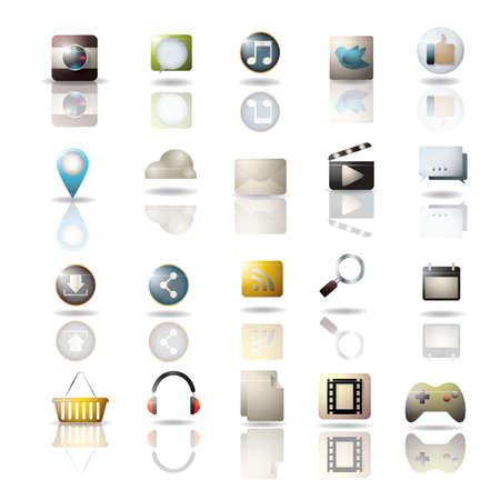 colección de icono de redes sociales