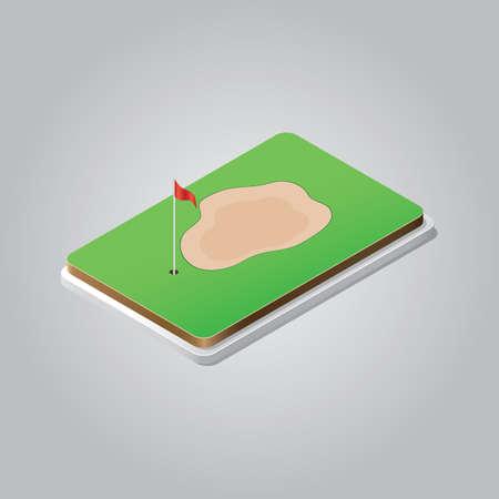 Terrain de golf Banque d'images - 81484366
