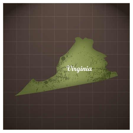 バージニア州地図