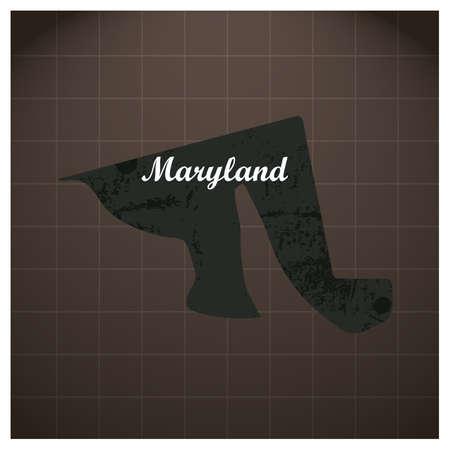 メリーランド州地図  イラスト・ベクター素材