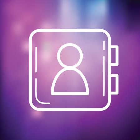 phonebook icon Ilustracja