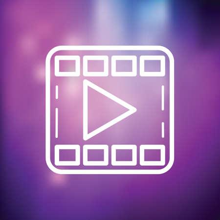 media player icon 矢量图像