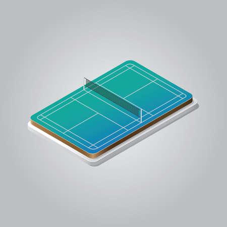 Terrain de badminton Banque d'images - 81484374