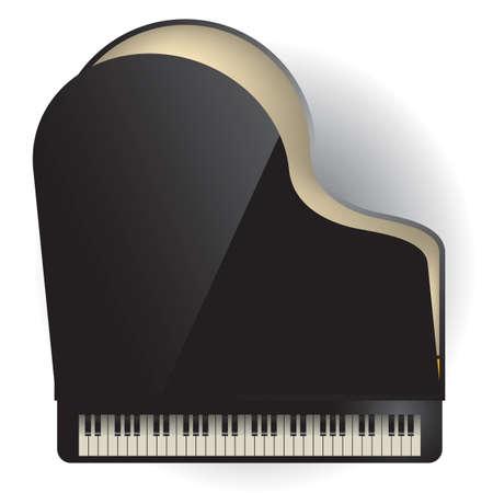grand piano 向量圖像