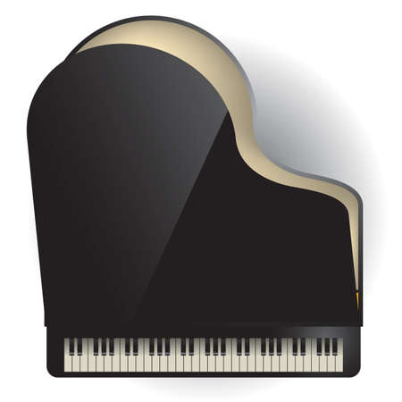 grand piano Illustration