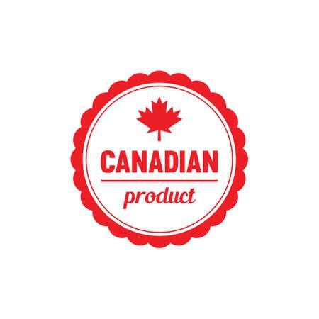 カナダの製品ラベル 写真素材 - 81589775