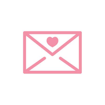 envelope with heart symbol Ilustracja