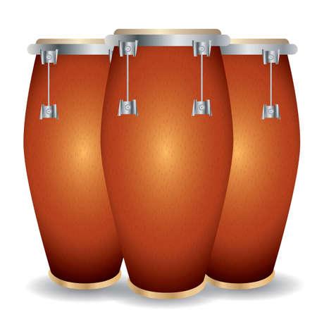 tambores de conga Ilustración de vector