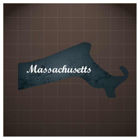 マサチューセッツ州地図