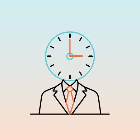 businessman with clock head