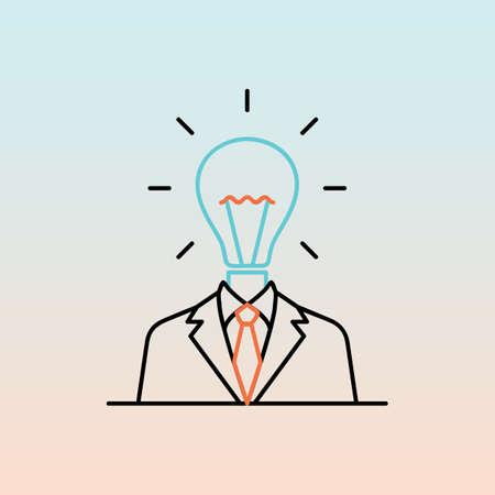 businessman with bulb head