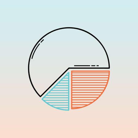 pie chart Illusztráció