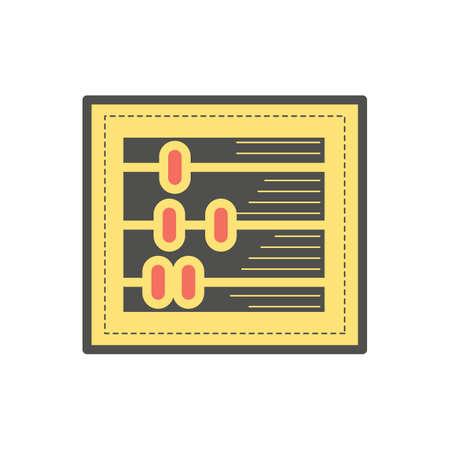 ábaco Ilustración de vector