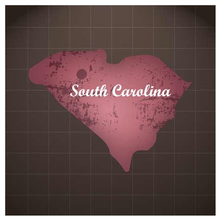 サウスカロライナ州地図  イラスト・ベクター素材
