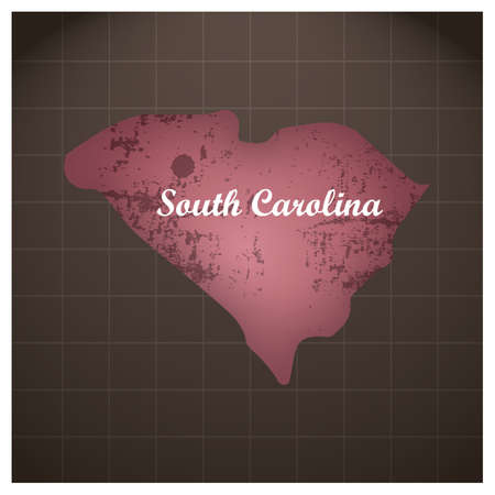 south carolina state map Stock Vector - 81484390