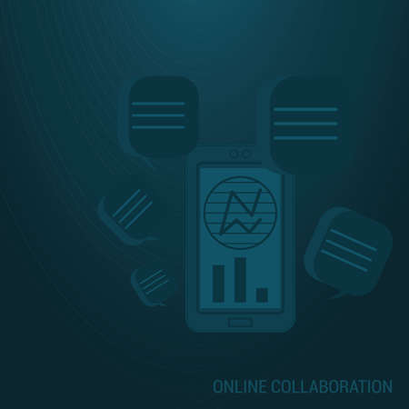 online collaboration background