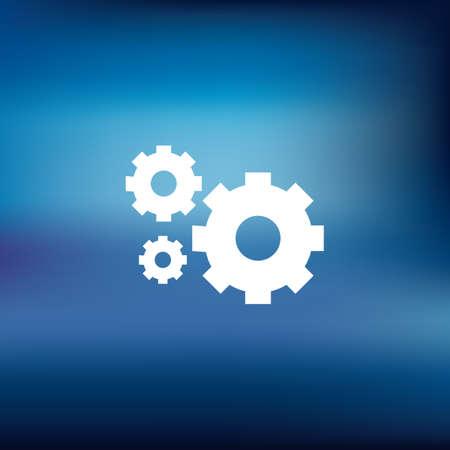 settings icon Stock Vector - 106668680