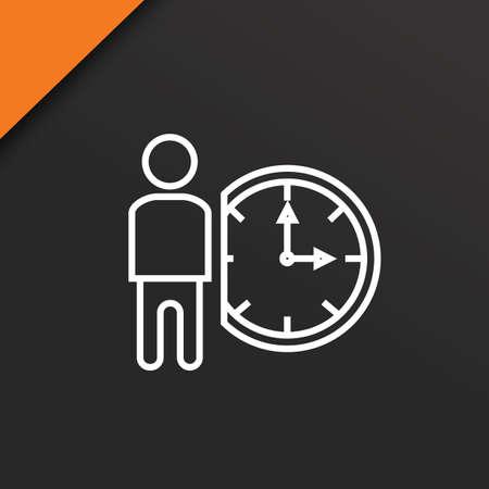 実業家と時計  イラスト・ベクター素材