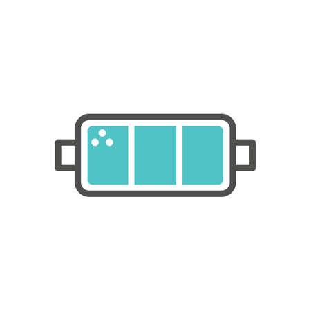 Batteriesymbol Vektorgrafik