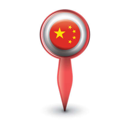 navigation pointer with china flag