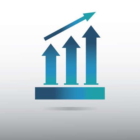 process bar graph Illustration