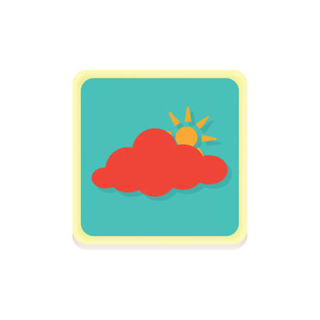 cloud sun icon Stock fotó - 81535369