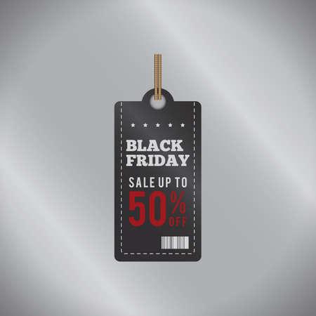 black friday sale tag Illusztráció