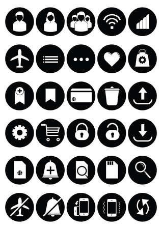 mobile app icon set Stock Vector - 106668693