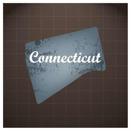 Connecticut staat kaart