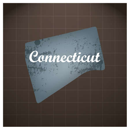 connecticut state map Illustration
