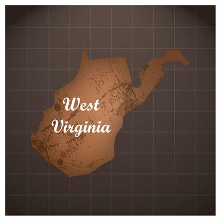 ウェスト バージニア州の地図