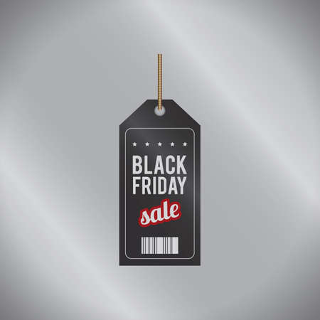 black friday sale tag 向量圖像
