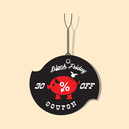 black friday sale tag 向量圖像