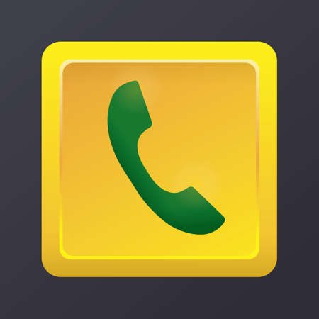 携帯電話は、呼び出しアイコンを受け入れる