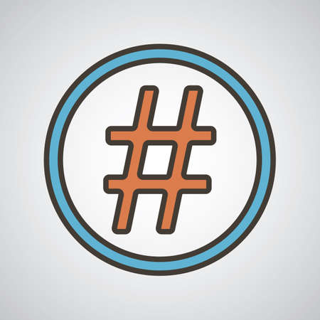 hashtag icon Illustration