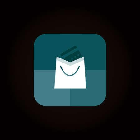 online shopping icon Illusztráció