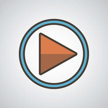 media player icon 向量圖像